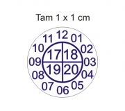 Etiqueta casca de ovo redonda 1 x 1 cm mod.01