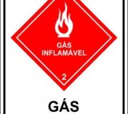 Gás inflamável - tipo 2. Placa em pvc 3mm.