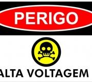 adesivo Perigo - Alta voltagem.