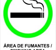 Placa tam.30 x 20 cm. Permitido fumar.