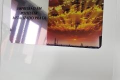 Adesivo metalizado