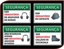 placas de sinalização indústria